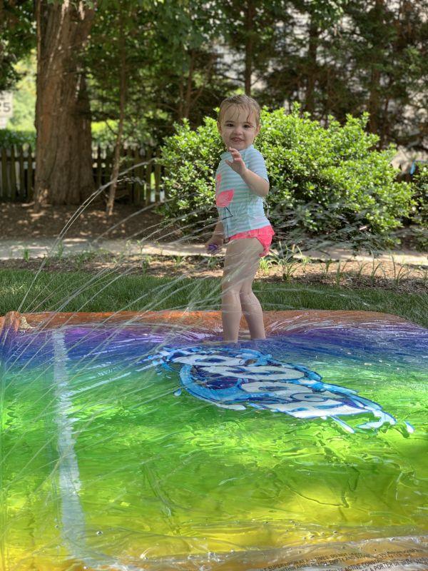 Backyard Sprinker Fun