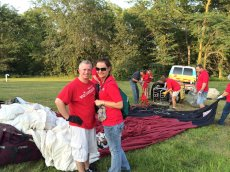 Adoptive Family Photo: Volunteering at the Balloon Festival, click to view bigger version