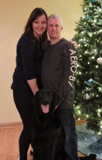 Adoptive Family Photo: Family Photo with Our Dog, Ebony, click to view bigger version