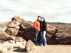 Adoptive Family Photo: Exploring a Petrified Forest, click to view bigger version