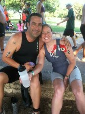 Adoptive Family Photo: Ready to Start Our Triathlon, click to view bigger version