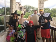 Adoptive Family Photo: Halloween with the Family, click to view bigger version
