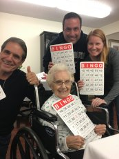Adoptive Family Photo: Bingo Winners with Sarah's Grandmother, Mom, and Step Dad, click to view bigger version