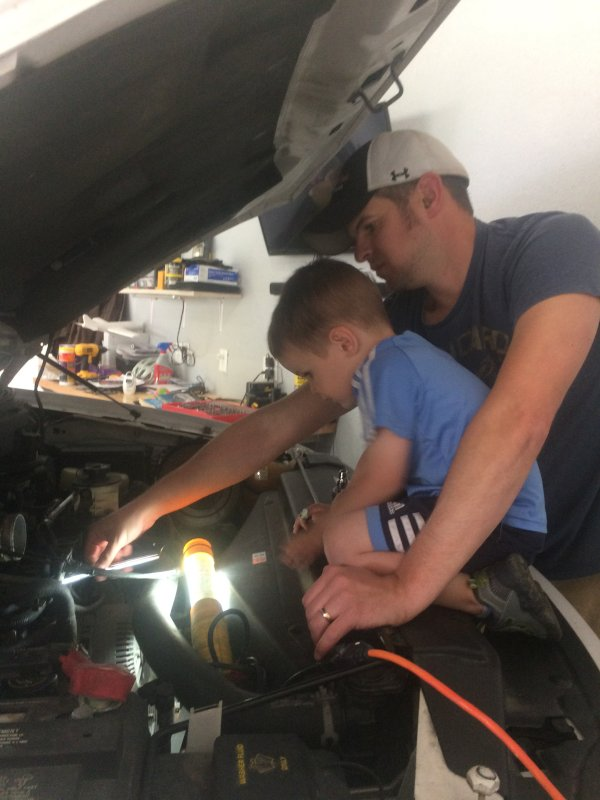 Working on the Car With Dad