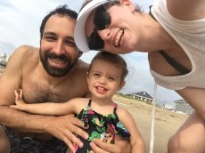 Adoptive Family Photo: Smiles at the Beach, click to view bigger version
