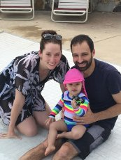 Adoptive Family Photo: Neighborhood Pool Fun, click to view bigger version