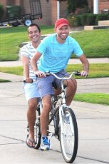 Adoptive Family Photo: A Fun Bike Ride Together, click to view bigger version