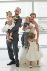 Adoptive Family Photo: Our Nieces & Nephews Kept Us Busy on Our Wedding Day
