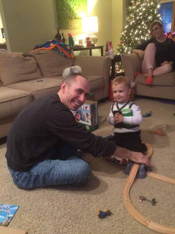 Adam & His Godson, Hayden, on Christmas