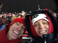Adoptive Family Photo: A Particularly Cold Football Game