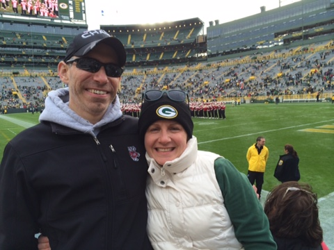 Cheering on Our Favorite Team- The Packers!