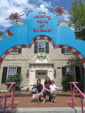 Adoptive Family Photo: Family Trip to the Dr. Seuss Museum, click to view bigger version