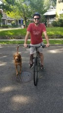 Adoptive Family Photo: Cycling with Max, click to view bigger version