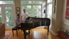 Adoptive Family Photo: Josh S. Tickling the Ivories, click to view bigger version