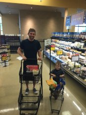 Adoptive Family Photo: Shopping Trip with Nephew, click to view bigger version