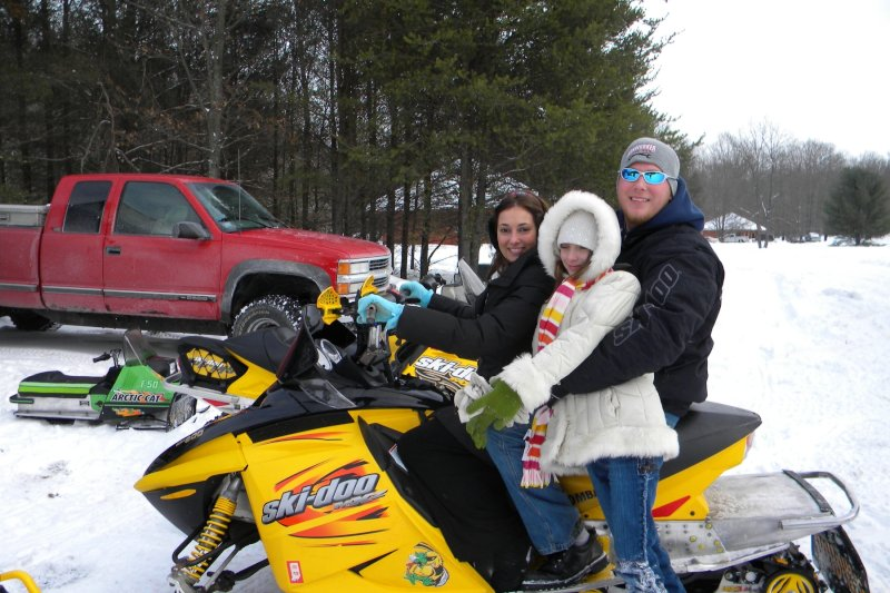 Snowmobiling With Angel's Sister