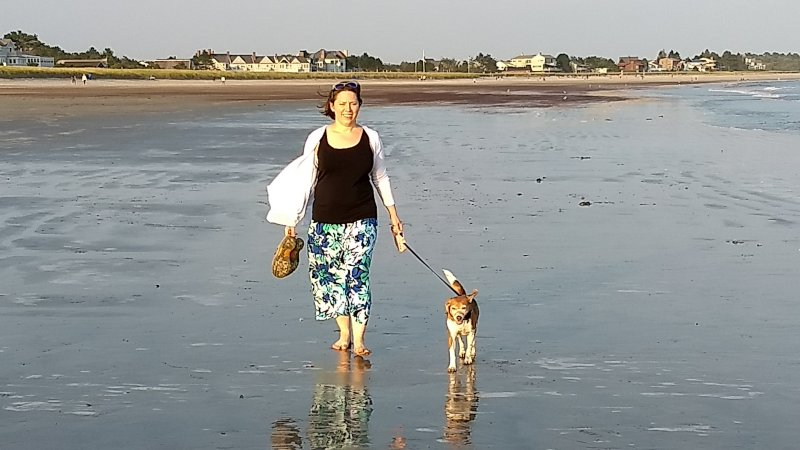 Walking On the Beach With Sadie