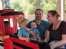Adoptive Family Photo: Train Ride Through the Zoo, click to view bigger version