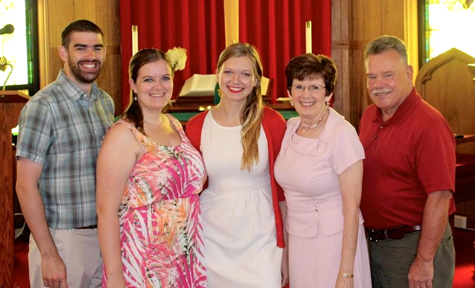 Brittany's Family All Together After Church