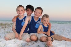 Adoptive Family Photo: Cousins at the Beach, click to view bigger version