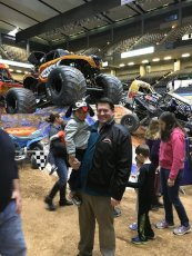 Adoptive Family Photo: Monster Jam Show, click to view bigger version