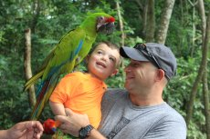 Adoptive Family Photo: Making New Friends in Belize