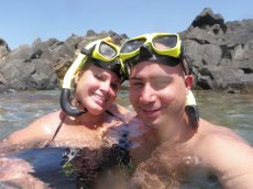 Adoptive Family Photo: Snorkeling in Mexico