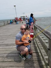 Adoptive Family Photo: Fishing Off the Pier