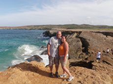Adoptive Family Photo: Enjoying the View in Aruba
