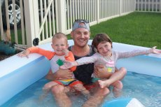Adoptive Family Photo: Pool Fun With Our Niece & Nephew, click to view bigger version