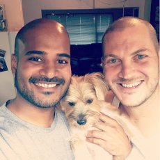 Adoptive Family Photo: With Our Pup, Jack, click to view bigger version