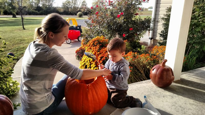 Carving Pumpkins With Mommy
