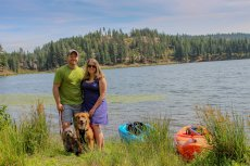 Adoptive Family Photo: At the Lake with Our Pups, click to view bigger version