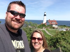 Adoptive Family Photo: Enjoying the View in Maine, click to view bigger version