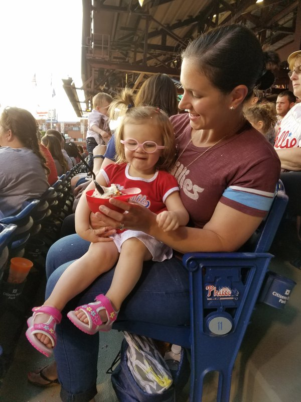Sharing Ice Cream at the Phillies Game