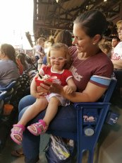 Adoptive Family Photo: Sharing Ice Cream at the Phillies Game