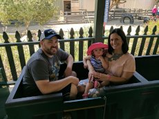 Adoptive Family Photo: Train Ride Around the Zoo