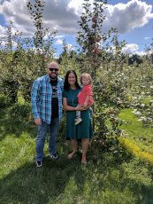 Adoptive Family Photo: We Love to Go Apple Picking