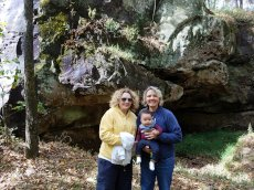 Adoptive Family Photo: Exploring Caves on Our Property, click to view bigger version