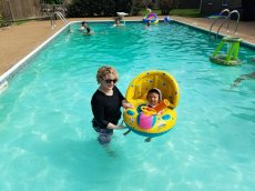 Adoptive Family Photo: Swimming in Uncle's Pool, click to view bigger version