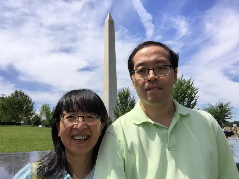 In Front of the Washington Monument