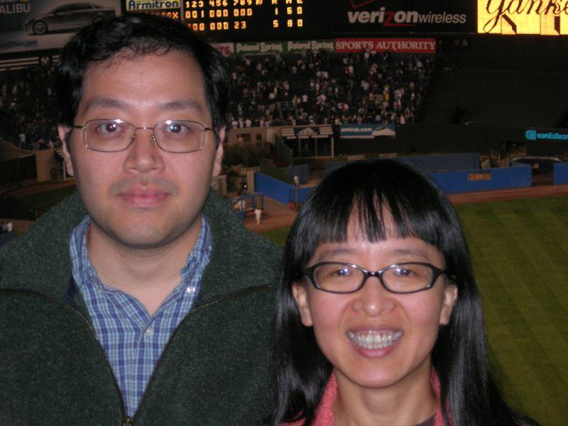 At Yankees Stadium