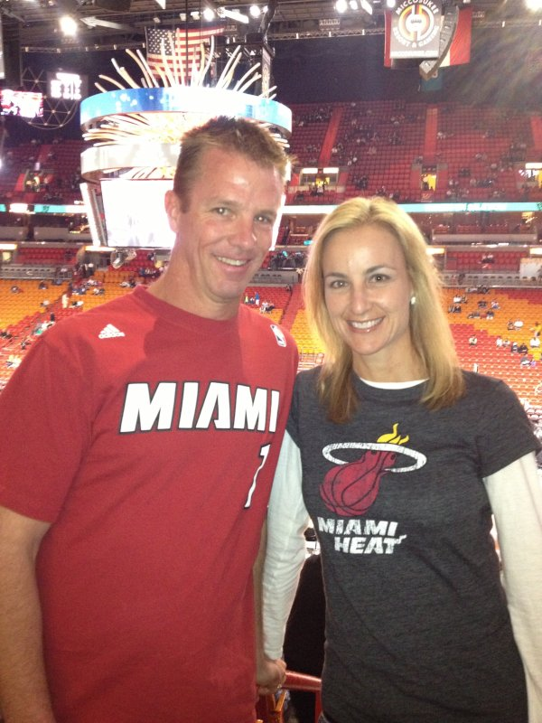 Cheering on the Miami Heat
