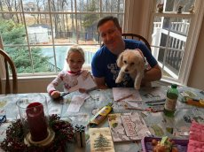 Adoptive Family Photo: Christmas Crafts With the Kids Is a Family Tradition, click to view bigger version