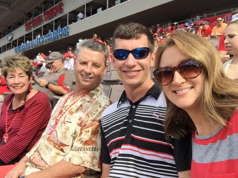 Cheering on Tampa Bay with Thomas' Parents