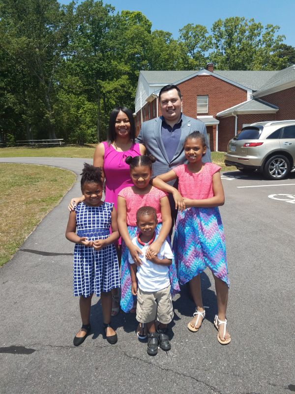 Church with Our Nieces and Nephew