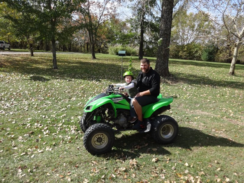 Four-Wheeling with His Cousin