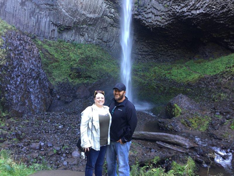 Checking Out a Beautiful Waterfall