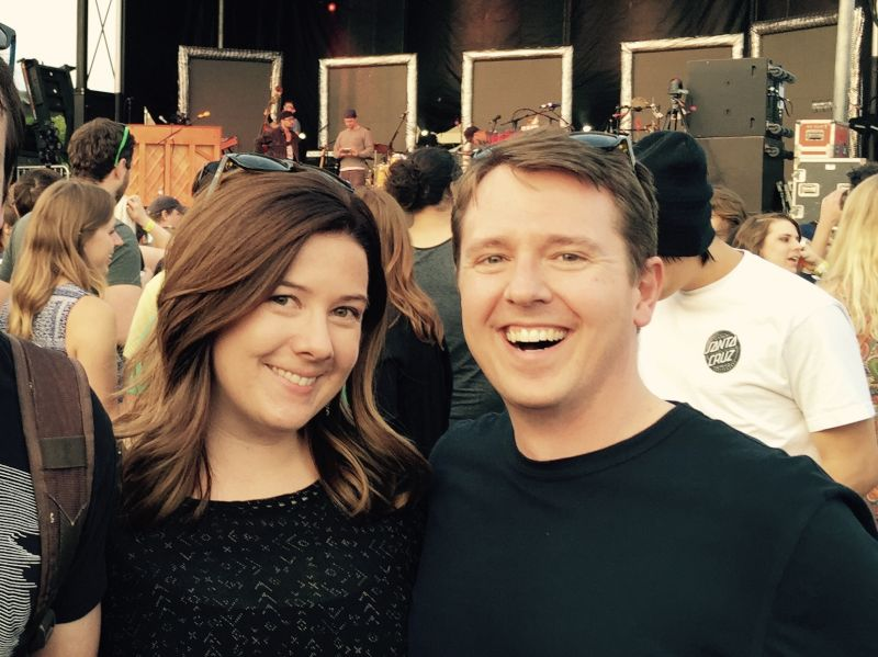 All Smiles at a Music Festival