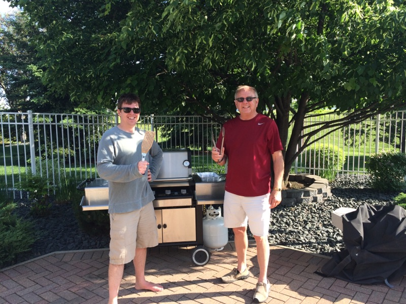 Scott & His Dad Grilling-  a.k.a. the Two 'Grill Masters'